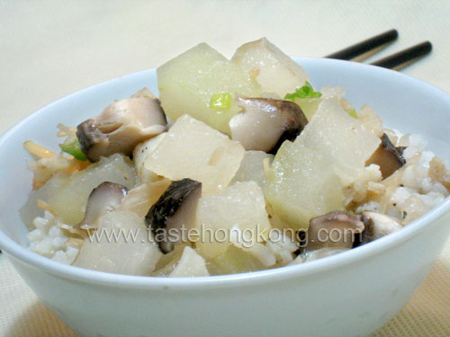 Rice in Winter Melon Soup