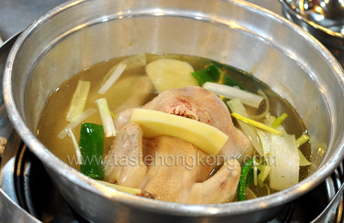 Korean Whole Chicken in Soup