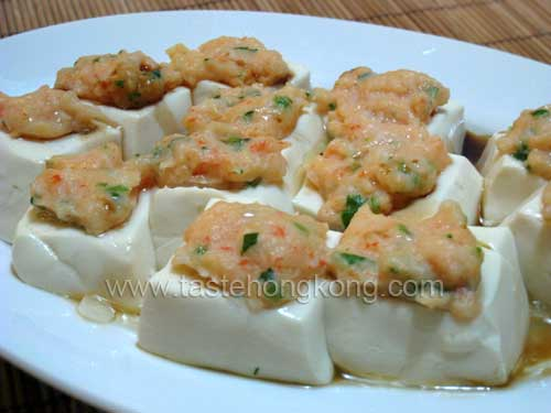 Steamed Stuffed Tofu