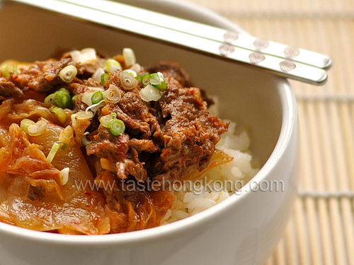 Taste hong kong hong kong food blog with recipes cooking tips cabbage kimchi stir fried with beef forumfinder Image collections