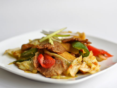 Double Cooked Pork Slices | Blog about Foods, Recipes, Cooking ...