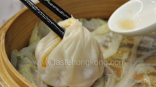 Pork Dumplings in Basket