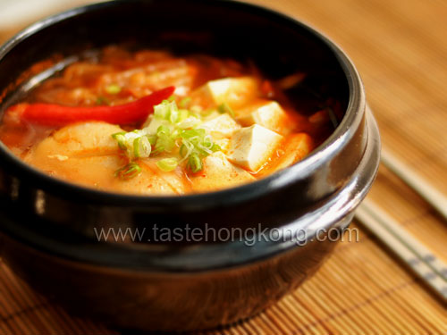 Spicy Tofu Soup with Scallop - Korean Style