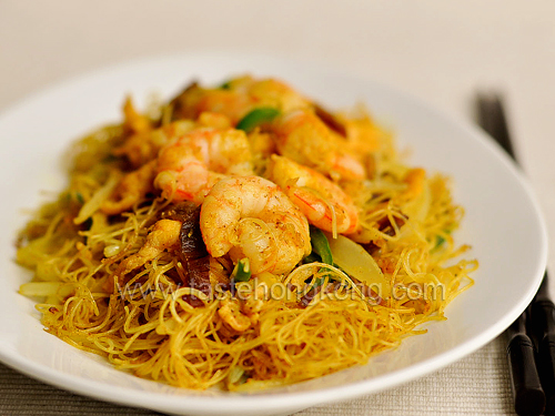 Singaporean fried rice noodles hong kong food blog with recipes singaporean fried rice noodles ccuart Images