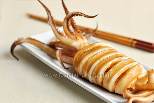 Grilled Squid with Teriyaki Sauce