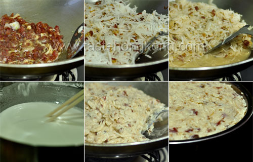 Turnip Cake Step by Step