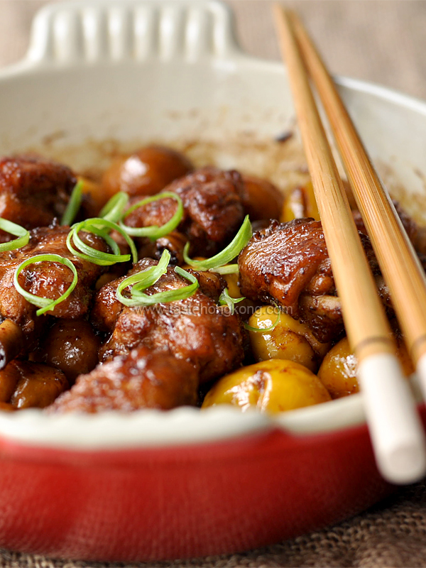 Braised Chinese Chestnuts Chicken
