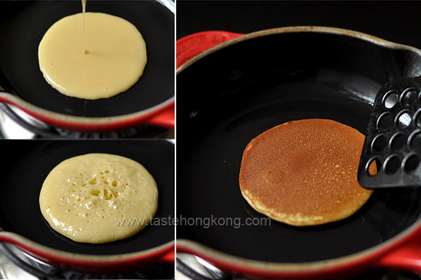 Pan-frying Dorayaki