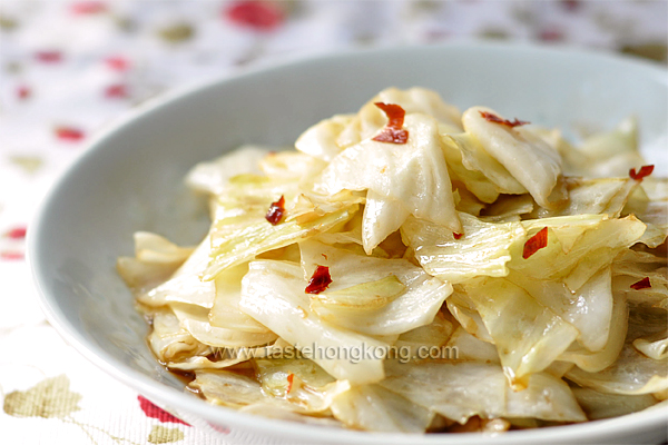 Hot and Sour Cabbage, Sichuan Style
