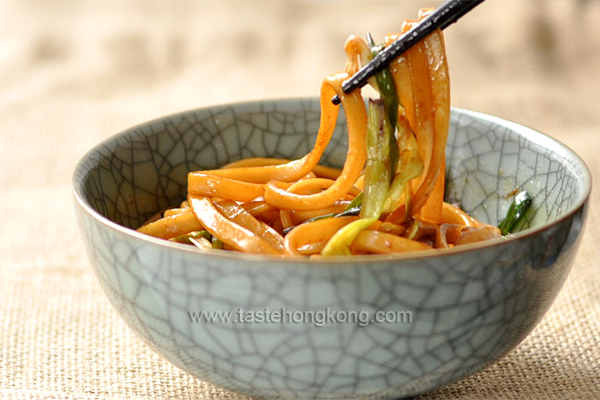 Wheat Noodles with Spring Onion Oil