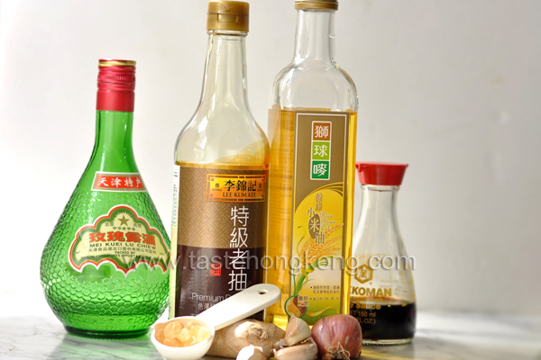 Rice Wine, Dark Soy Sauce, Rice Bran Oil