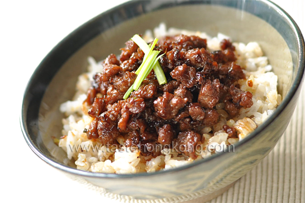 Pork Sauce Rice, a Taiwan Snack