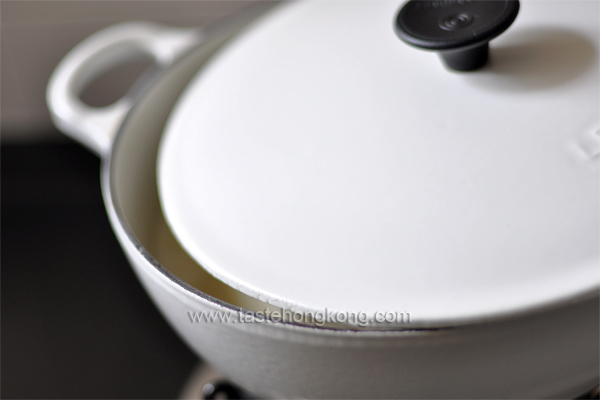 Boiling Soy Milk in Pot