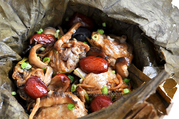 Steamed Chicken in Lotus Leaf