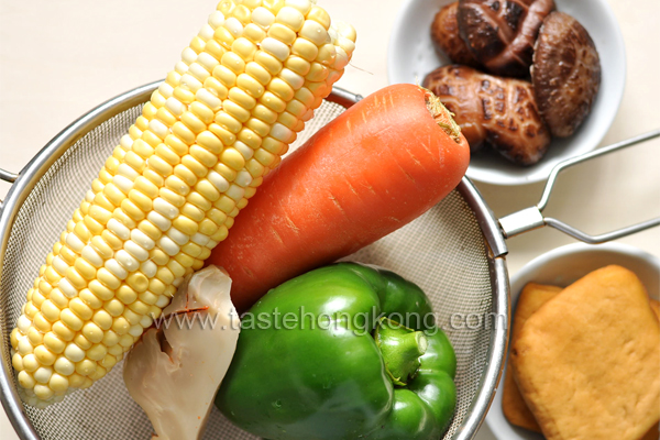 Ingredients for Stir-Fried Corn