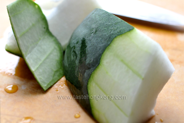 Peeling Winter Melon