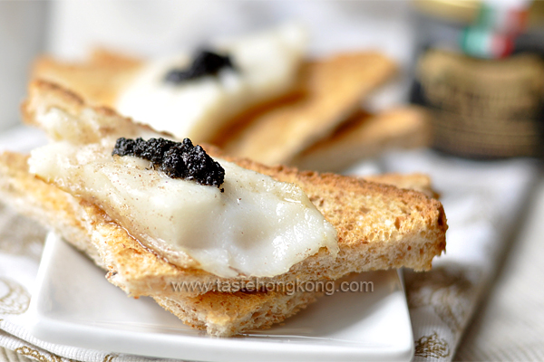 Fish Fillet Toast with Black Truffle Pate