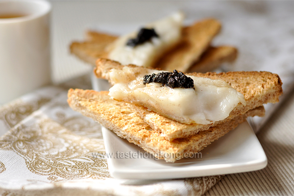 Fish Fillet Toast with Black Truffle Paste
