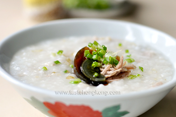 Congee with Salted Pork and Century Egg