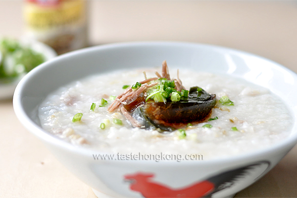 How to Cook Congee with Salted Pork & Century Egg, a Classic Hong Kong Rice Porridge