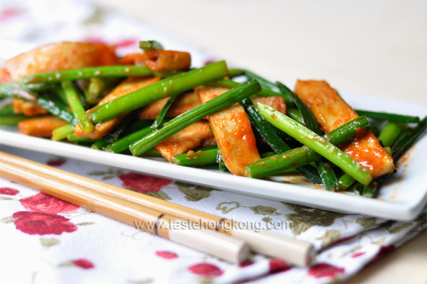 Garlic Chive with Dried Tofu, a Chinese Vegetarian Stir-Fry | Hong ...