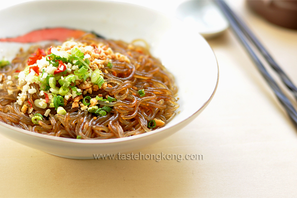 Easy Hot and Sour Sweet Potato Noodles, Chinese Sichuan (Szechuan) Style