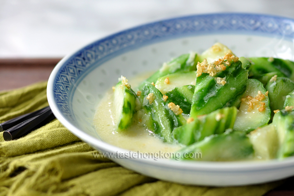 Loofah Gourd in Soy Milk, a Chinese Vegetarian Stir-Fry and Soup