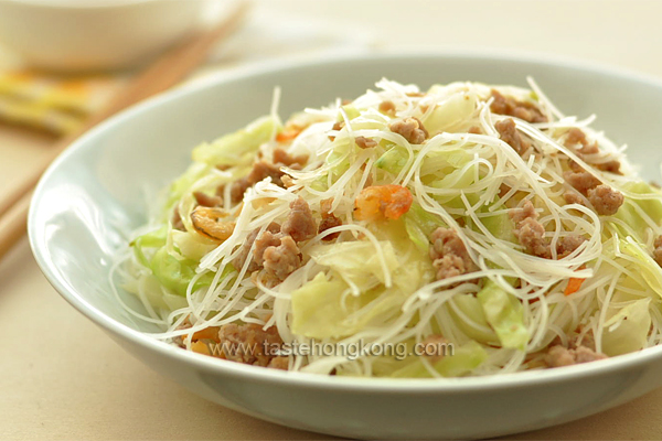 Stir-Fried Rice Noodles with Ground Pork, Taiwanese Style