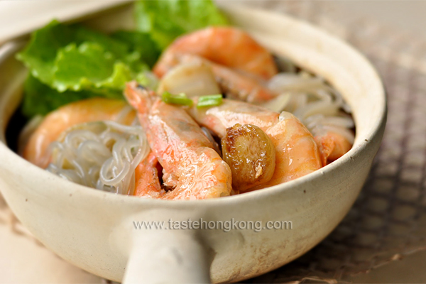 Shrimp Casserole with Korean Sweet Potato Noodles (Dangmyeon)