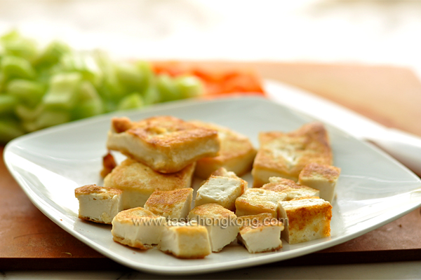 Spicy Tofu Stir-fry, Vegetarian Style