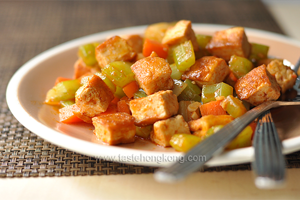 Easy Tofu Stir-fry, Spicy and Vegetarian