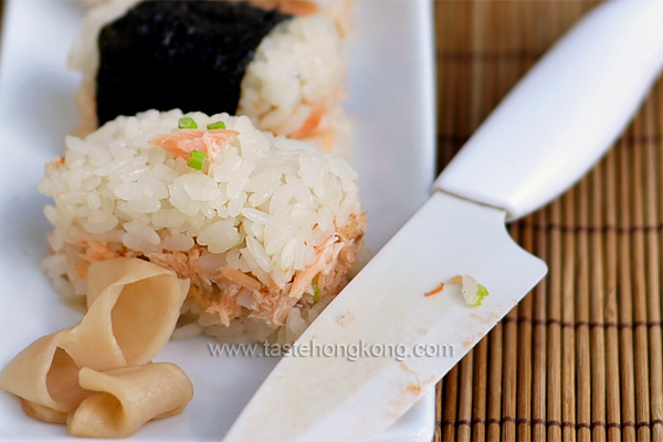 Simple Sushi with Leftover Grilled Salmon
