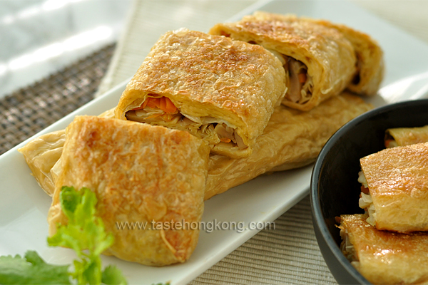 Yuba Wraps (Beancurd Sheet Rolls) &#8211; a Traditional Chinese Vegetarian Dish