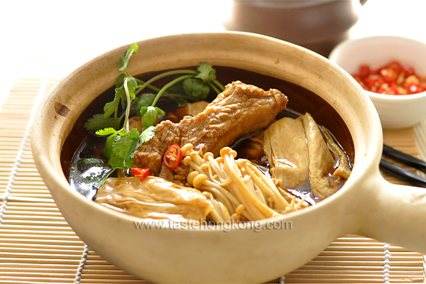 Dried Bean Curd Sticks and Bak Kut Teh A famous Malaysia and Singapore ...