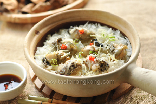 Oyster Rice in Claypot with Radish and White Peppers