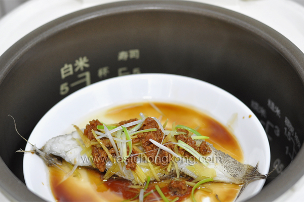 How to steam fish in a rice cooker