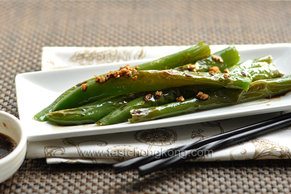 Sweet and Sour Long Green Chili Peppers