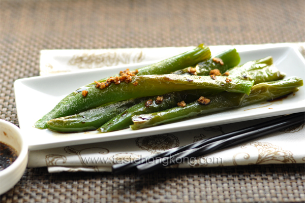 Sweet and Sour Long Green Chili Peppers, Pan-Fried