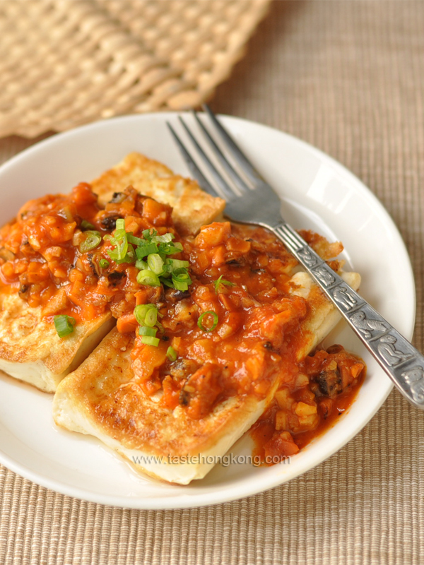 Tofu Steak with Spicy Mussel Sauce