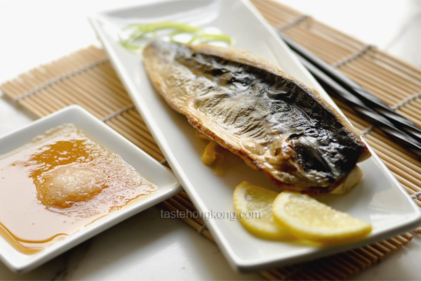 Salt Grilled Mackerel (Saba Shioyaki) and a Daikon Sauce, Japanese Style