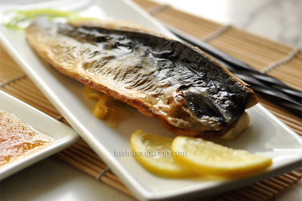 Grilled Mackerel (Saba Shioyaki) with a Daikon Dipping Sauce, Japanese Style
