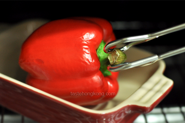Roasted and Skinned Bell Pepper